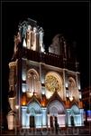 по ночной Ницце,ул. Jean Medecin,церковь Нотр-Дам