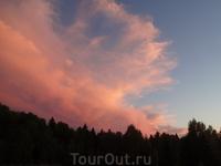 Закат на Центральной поляне