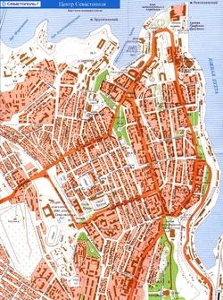 Карта города Севастополь
