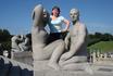 Со скульптурами в парке Г.Вигеланда