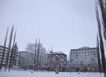 парк Сибелиуса (Sibeliuksen puisto) в центре города с памятником Орлу