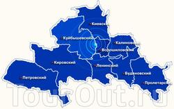 Карта Донецка с районами