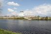 Псковский Кремль и река Великая. Троицкий собор на фото.