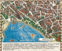 Карта Евпатории с достопримечательностями