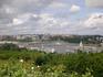 """Вид на город со смотровой площадки в мемориальном парке """"Победа"""""""