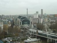 Вид из кабинки Лондонского глаза