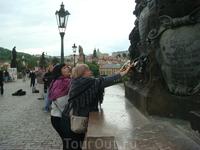 Прага Карлов мост,загадываем желания....