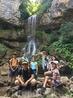 На фоне Университетского водопада, п.Мезмай