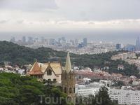Вид Барселоны с горы Тибидабо (Tibidabo) 5