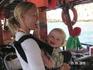 Скандинавка с младшим из двух детей (яхт-тур)
