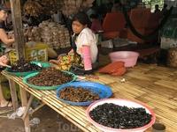 Скучающая продавщица тараканов,жуков и саранчи
