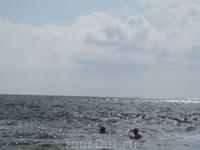 ... и купаемся. Крайний заплыв. 3 октября