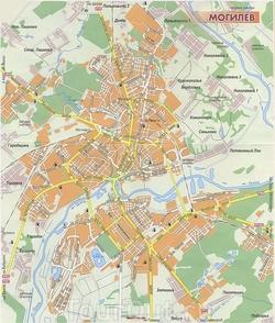 Карта Могилёва
