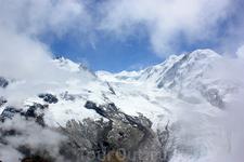 Массив Monte Rosa, пик Дюфур (нем. Dufourspitze, фр. Pic Dufour) 4634 м - высочайшая вершина Швейцарии