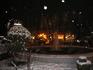 Фонтан в снегу