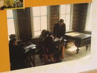 Занятия в школе. Фото с иллюстрации в сувенирной лавке в Б.Болдино.