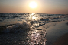 закат солнца на Кинбурнской косе