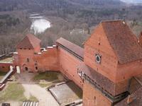 Турайдский замок с высоты башни