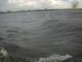 А так выглядело море из иллюминатора, когда поплыли на Кий-остров
