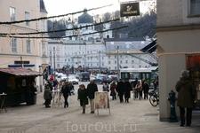 В Зальцбурге встретили много туристов,особенно русских.