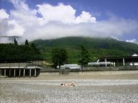Городской пляж г.Гагры