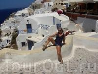 Вот это Греция! Остров Санторини - белые домики с голубыми крышами, все как на открытках))