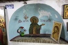 Гроб св. Софии, матери прп. Саввы освященного