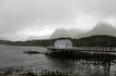 Дальше вышли на свежий воздух и стали знакомиться с местными красотами. Вот такая красота открывается взорам туристов у Lofoten Aquarium.