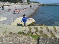 Черное море. Пляж.
