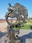"""Скульптура """"Золотая рыбка"""".Находится вблизи дворца бракосочетания"""