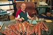 В мастерской по изготовлению традиционных саамских ножей. Карашок, губерния Финнмарк, Северная Норвегия.  Foto: Kurt Hamann/Innovation Norway