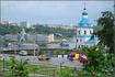 вид на речной порт и Успенскую церковь
