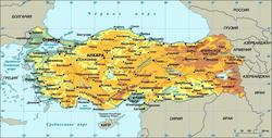 Карта городов Турции