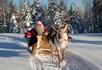 Санта Клаус на оленьей упряжке