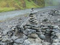 В Исландии есть предание, что если тебе очень понравилось какое-либо место, то нужно построить такую как на фото пирамидку, и тогда ты обязательно вернешься ...