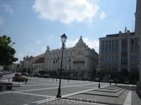 Площадь в Старом Вильнюсе.