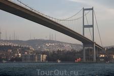 Мост через Босфор. Из Европы в Азию.