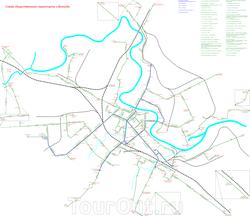 Схема движения общественного транспорта Вологды