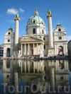 Необычная церковь Карлскирхе в Вене
