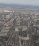центр города из илюминатора