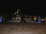 """ночной вид на памятник """"Журавли"""""""