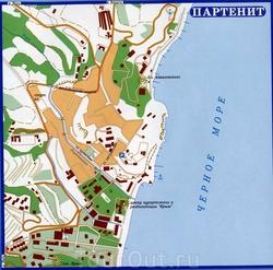 Карта Партенита