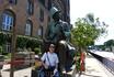 В детстве я очень любил сказки Андерсена, это памятник ему в столице Дании.