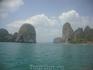 Вид на два островка перед Пра Нанг справа от ппляжа