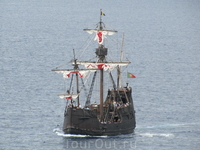 А это точная копия каравеллы Колумба - Санта-Мария