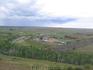 Вид на туристический лагерь с горы Любви