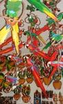 Парати-если не нравятся местные красавицы сидящие на окне в качестве сувениров, можно выбрать разноцветных пернатых.