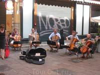 уличные музыканты из Польши