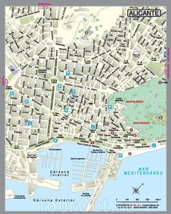 Карта Аликанте с улицами
