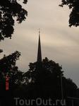 Это видна Троицкая церковь. Наше любимое здание в Раквере.